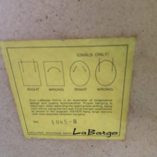 1980s Chinoiserie La Barge Mirror For Sale - Image 5 of 8