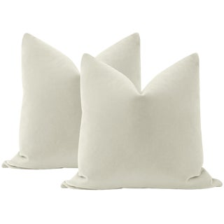 "22"" Marble Mohair Pillows - a Pair For Sale"