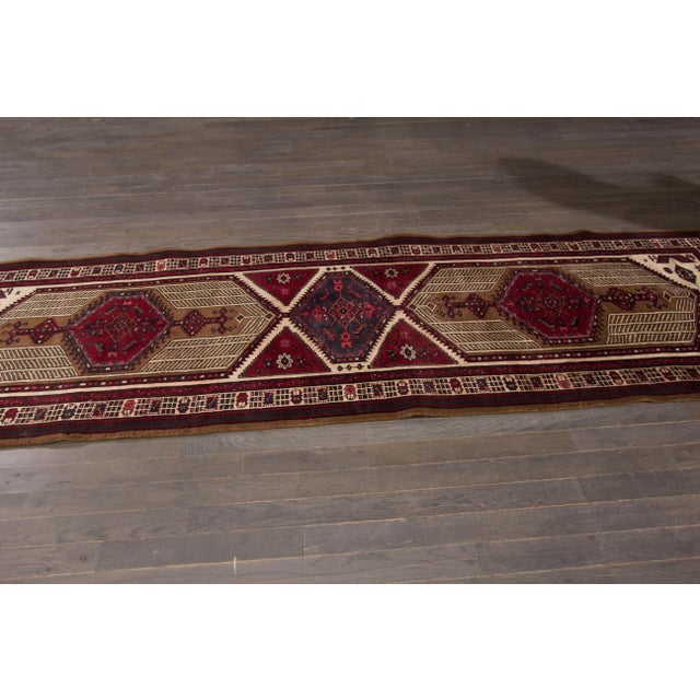 Vintage hand-knotted Persian. Very Good condition. Low pile.