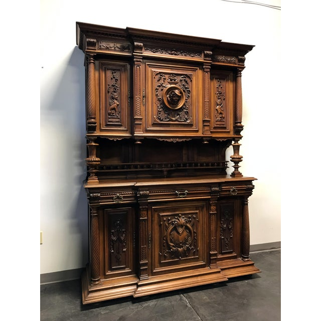 Late 19th / Early 20th Century French Carved Walnut Buffet a Deux Corps - Image 2 of 11