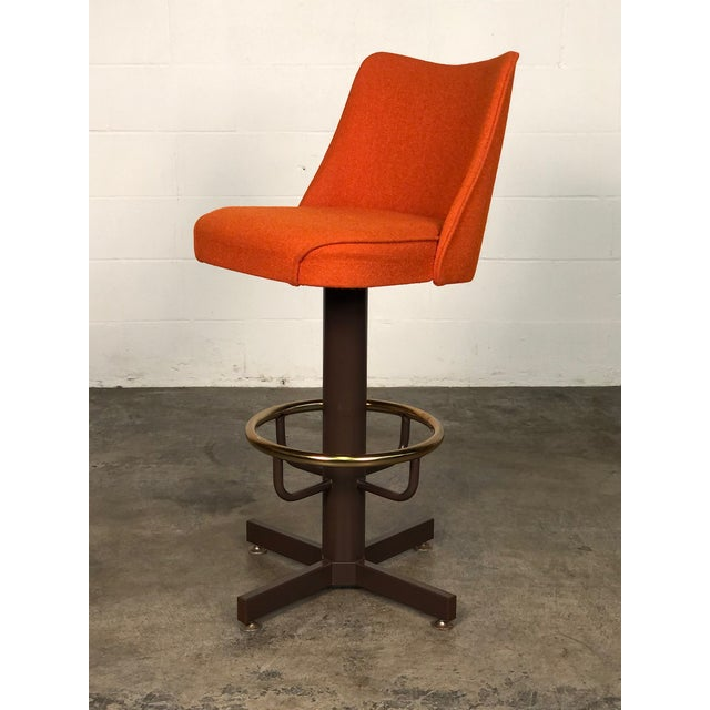 -MANUFACTURE: Unknown -IN THE STYLE OF: Mid-Century Modern -DATE OF MANUFACTURE: 1970's -MATERIALS: Steel / Orange Tweed...