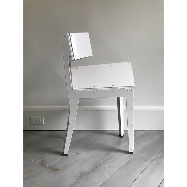 Aluminum Folding Stitch Chair - 2 Available For Sale - Image 7 of 8
