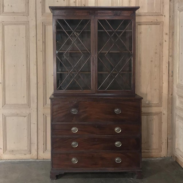 Secretary/Bookcase, 19th Century Antique English in Mahogany For Sale - Image 13 of 13
