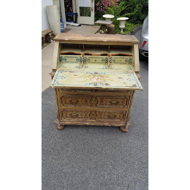 French Distressed Painted Secretary Desk - Image 2 of 11