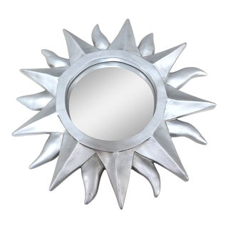 1980s Vintage Petite Sunburst Mirror For Sale