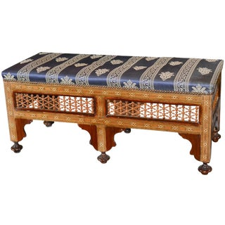 19th Century Syrian Inlaid Bench For Sale