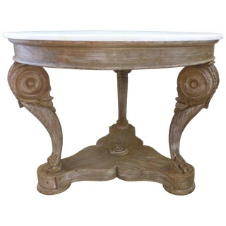 William Switzer of Vancouver, B.C. Hand-Crafted Marble Top Center Table For Sale