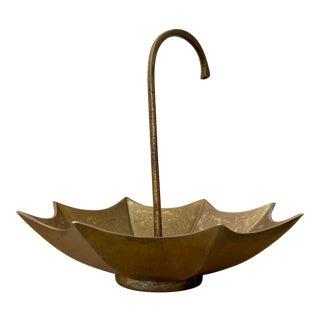 Vintage Brass Umbrella Catchall For Sale