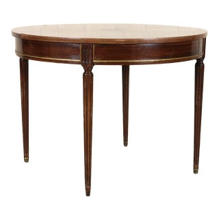 1940s French Mahogany Dining Table For Sale