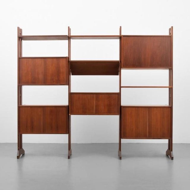 Brown Shelving Unit and Desk by Poul Cadovius, Denmark, 1965 For Sale - Image 8 of 9