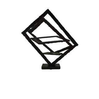 Mid-Century Hand Forged Brutalist Sculptural Candle Holder For Sale