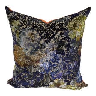 Designers Guild Pillow - Blue, Navy, Orange, Chartreuse For Sale