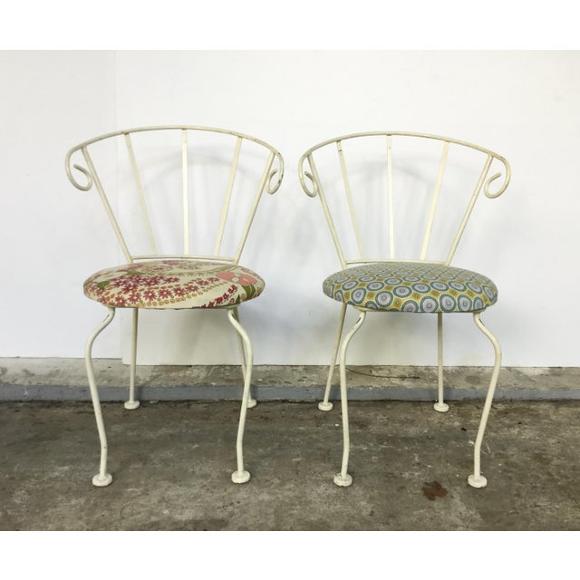 Mid-Century Painted Cast Iron Chairs - A Pair - Image 3 of 9