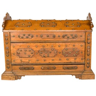 16th Century Pine & Oak Continental Coffer