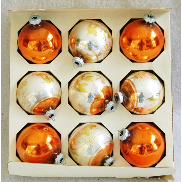 1950s Christmas Ornaments With Box - Set of 9 - Image 3 of 8