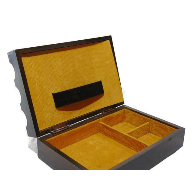 Wood Jewelry Box with Suit of Armor - Image 3 of 5