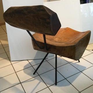 """Vintage Mid Century Unique """"Slab"""" Chair Preview"""
