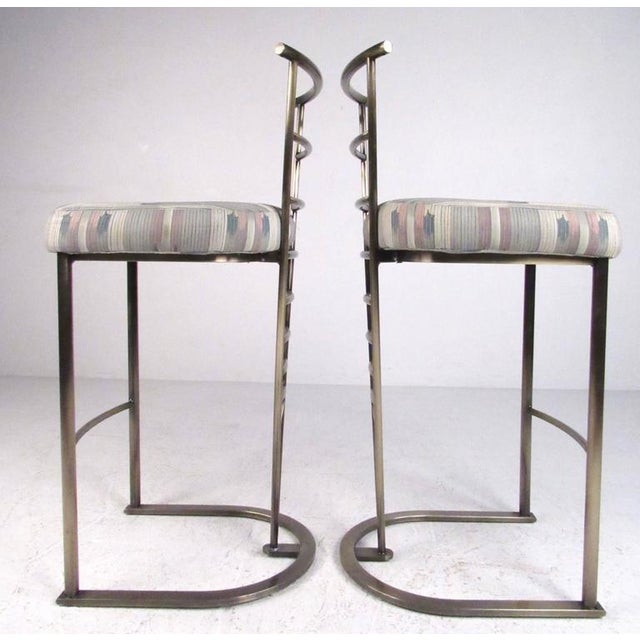 Contemporary Pair of Contemporary Modern Bar Stools by Dia For Sale - Image 3 of 11