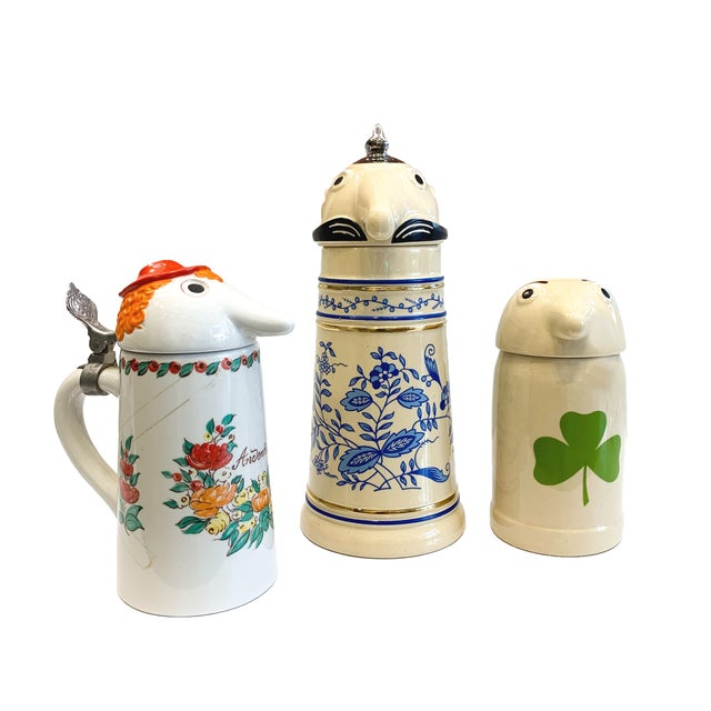 Mid 20th Century Schultz & Dooley Beer Steins - Set of 3 For Sale - Image 9 of 10