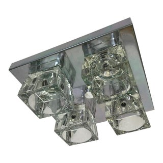 Vintage Melolite Flush Mount Ice Cube Ceiling Fixture Never Used For Sale
