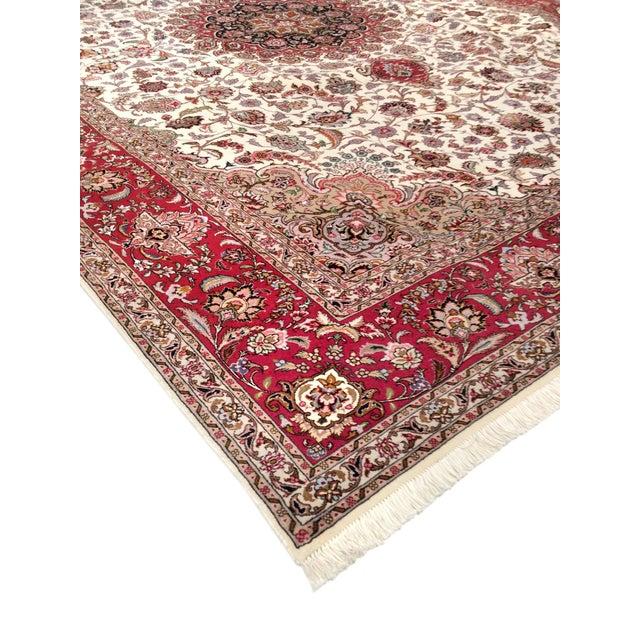 "Islamic Pasargad Persian Tabriz Silk & Wool Rug - 8' 3"" X 11' 6"" For Sale - Image 3 of 5"