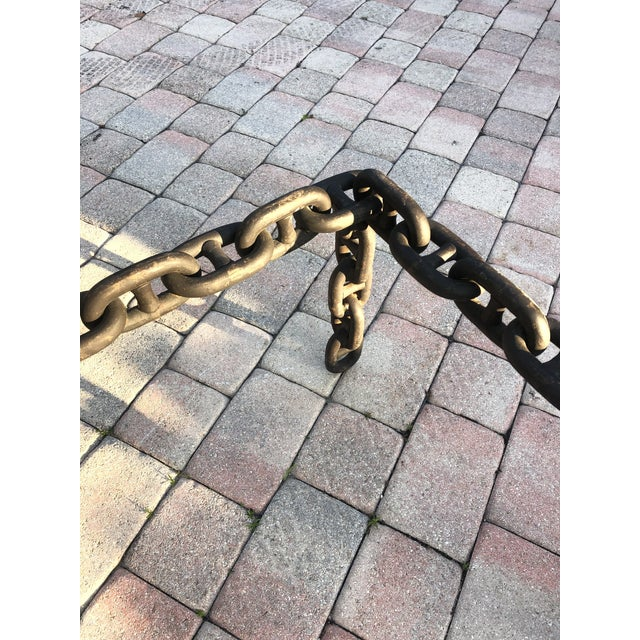 Metal Ship Iron Chain Link Coffee Table For Sale - Image 7 of 10