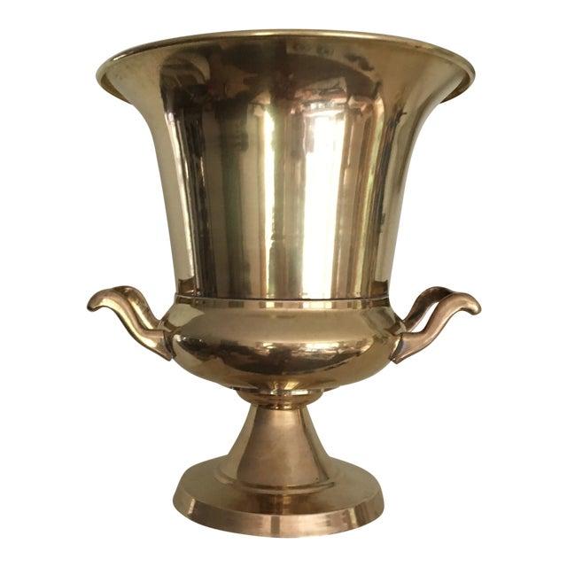 Vintage Brass Urn Shape Champagne Bucket Wine Cooler For Sale