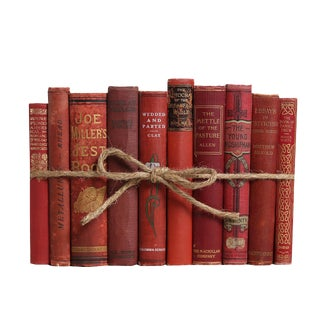 Antique Orchard ColorPak - Decorative Books in Shades of Red For Sale