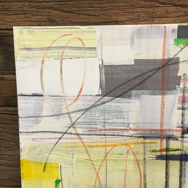 """Isabel Wyatt """"Taxi"""" Original Abstract Painting - Image 3 of 4"""