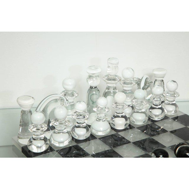 Modern Murano Glass Chess Set For Sale - Image 3 of 6