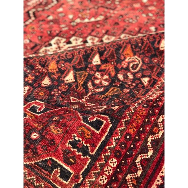 "Vintage Persian Qashghi Rug - 5'1""x8' - Image 8 of 9"