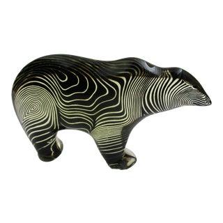Abraham Palatnik Lucite Grizzly Bear Op Art