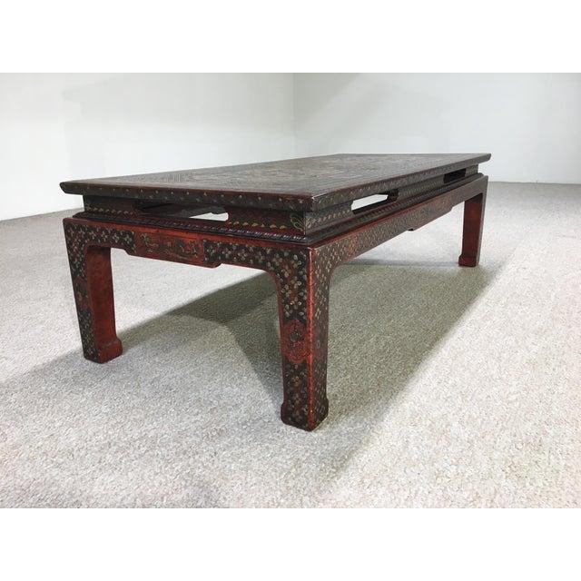 John Widdicomb Mario Buatta for John Widdicomb Chinoiserie Coffee Table For Sale - Image 4 of 7