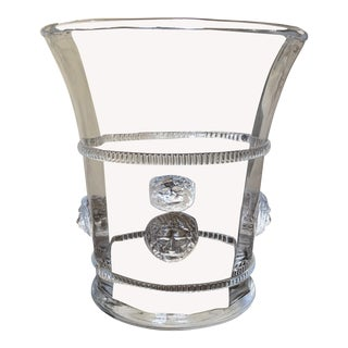 Hand Blown Glass Champagne or Wine Cooler For Sale