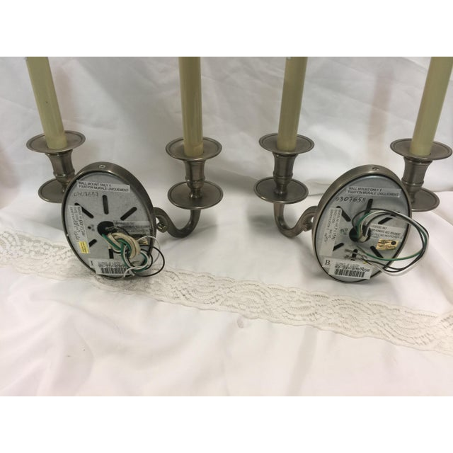 Chrome Wall Sconces a Pair For Sale - Image 4 of 7