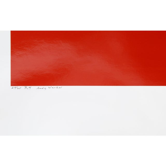 Portraiture Andy Warhol Red Series IV For Sale - Image 3 of 4