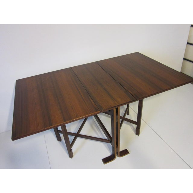 Brown Siguro Ressell Rosewood Gate Leg Dining Table For Sale - Image 8 of 8