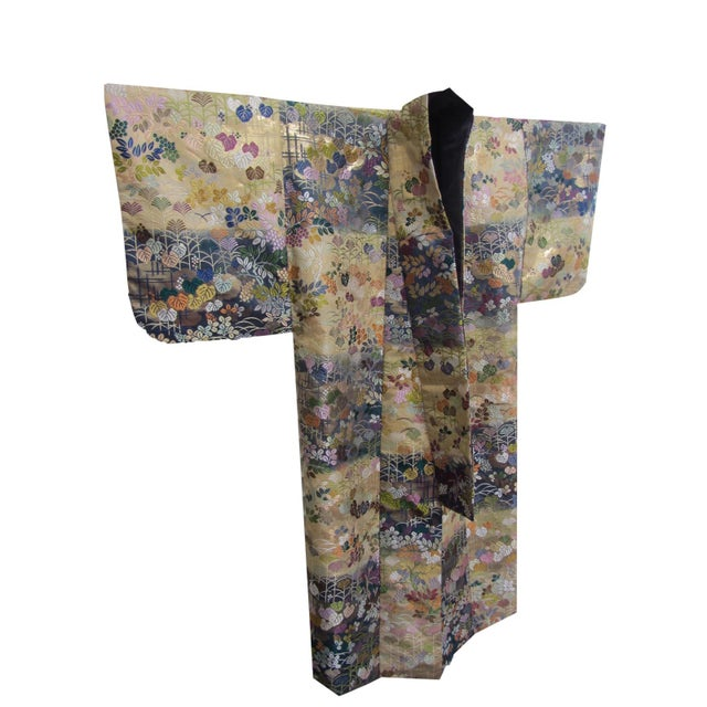 Vintage Silk Embroidered Japanese Wedding Kimono - Image 2 of 10