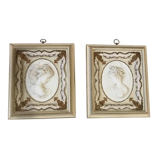 Antique Victorian Cameo Frames - A Pair