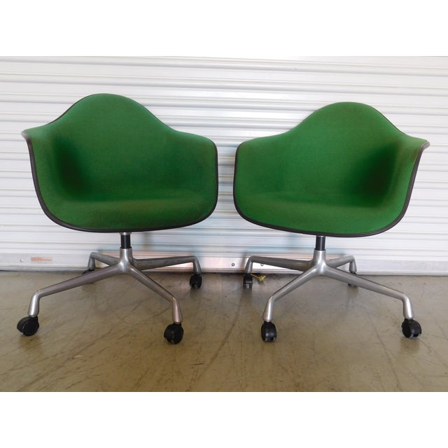 1979 Herman Miller Green Office Chairs - Pair - Image 2 of 11