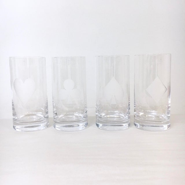 453d38e0520 Contemporary Kate Spade  Gin Rummy  Crystal Barware - Set of 8 For Sale -