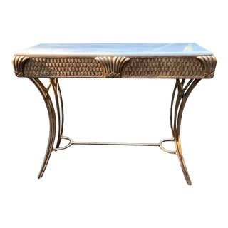 Vintage Directoire Style Marble Top Console For Sale