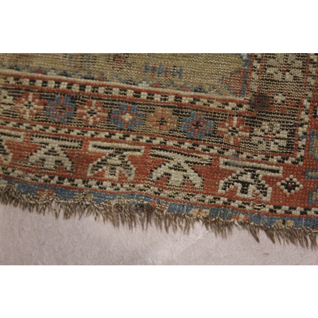 Brown Late 19th Century 'Super Worn' Antique Caucasian Rug For Sale - Image 8 of 9