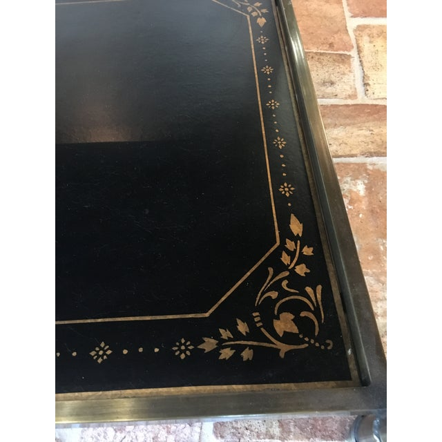 Chinoiserie Oval Metal Cocktail Table For Sale - Image 10 of 12