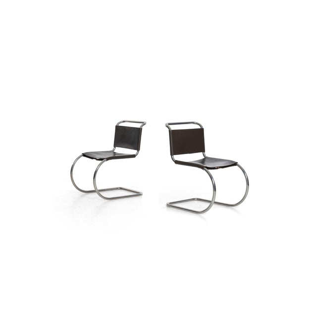 Knoll Mies Van Der Rohe Mr Chairs Set of 4 For Sale - Image 4 of 8