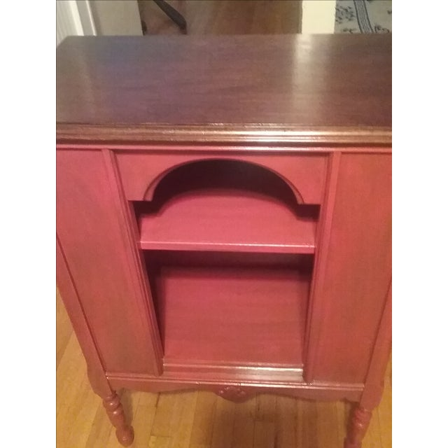 1940s Red Radio Cabinet - Image 5 of 6