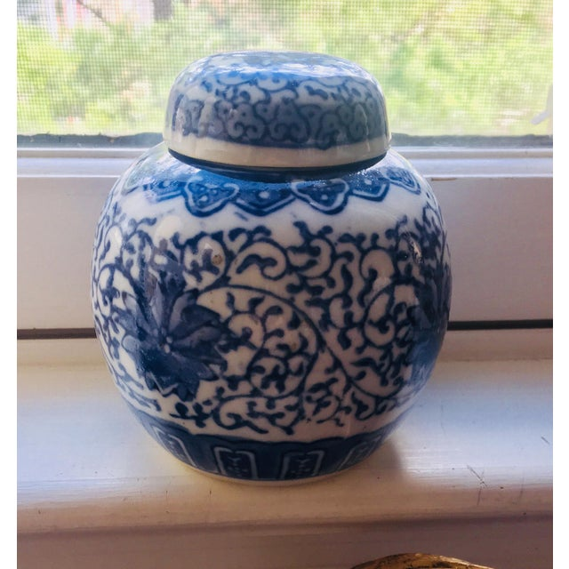 Chinese Blue and White Storage Ginger Jar For Sale - Image 11 of 11