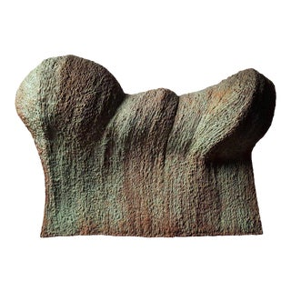 Contemporary Brutalist Wave Form Sculpture in Bronze by Douglas Ihlenfeld For Sale