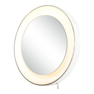 Mid Century Lightolier Lighted Wall Mirror For Sale