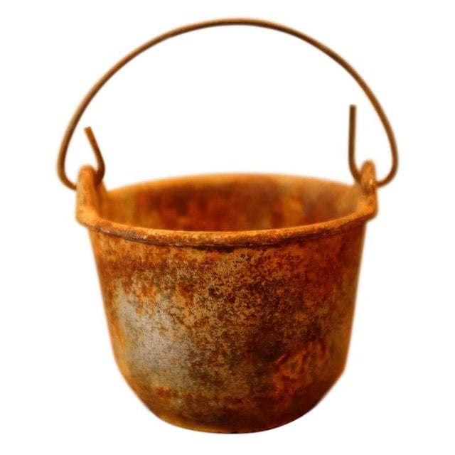 Patinated Foundry Smelting Crucible For Sale - Image 9 of 9